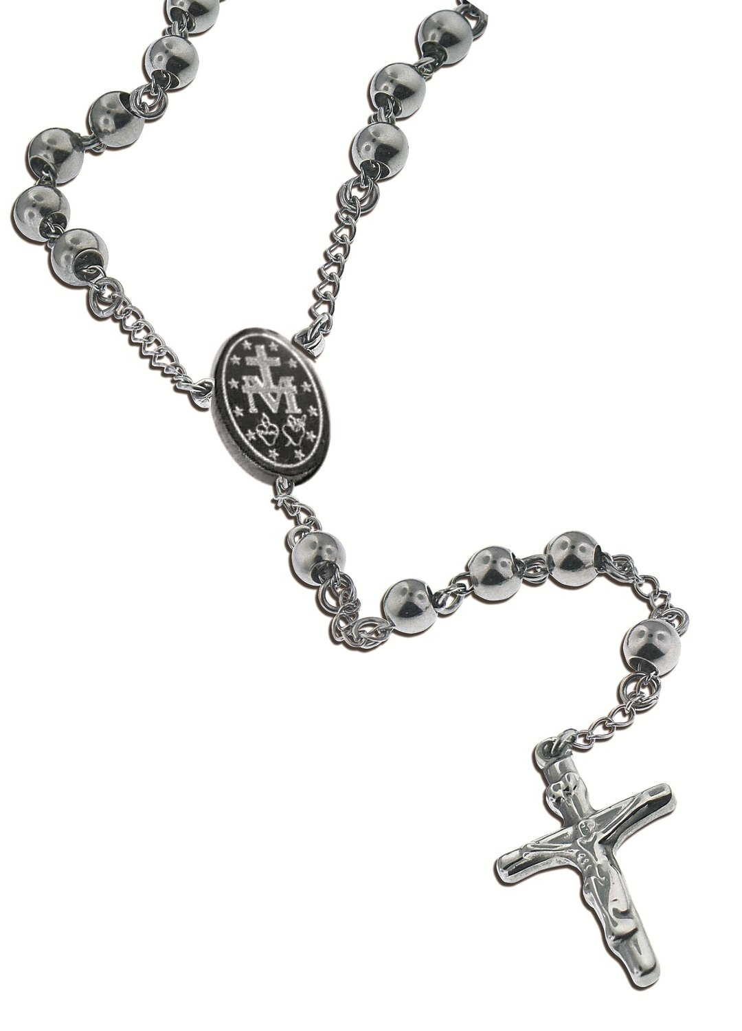 catholic cross crucifix necklace steel pendant rope products stainless chain rosary