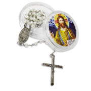 Rosary white Pearl Beads