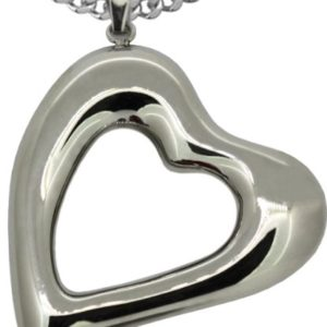 BIG-Gorgeous-Heart-Stainless-Steel-High-Polish-Pendant-Includes-Stainless-Steel-Curb-48MM-Wide-Chain-18-Inches-Vale-B00BNWQV6Q