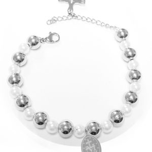 Catholic-Stainless-Steel-Lady-of-the-Miraculous-Medal-Charm-Pearls-and-Beads-Bracelet-B01BVYBM4G