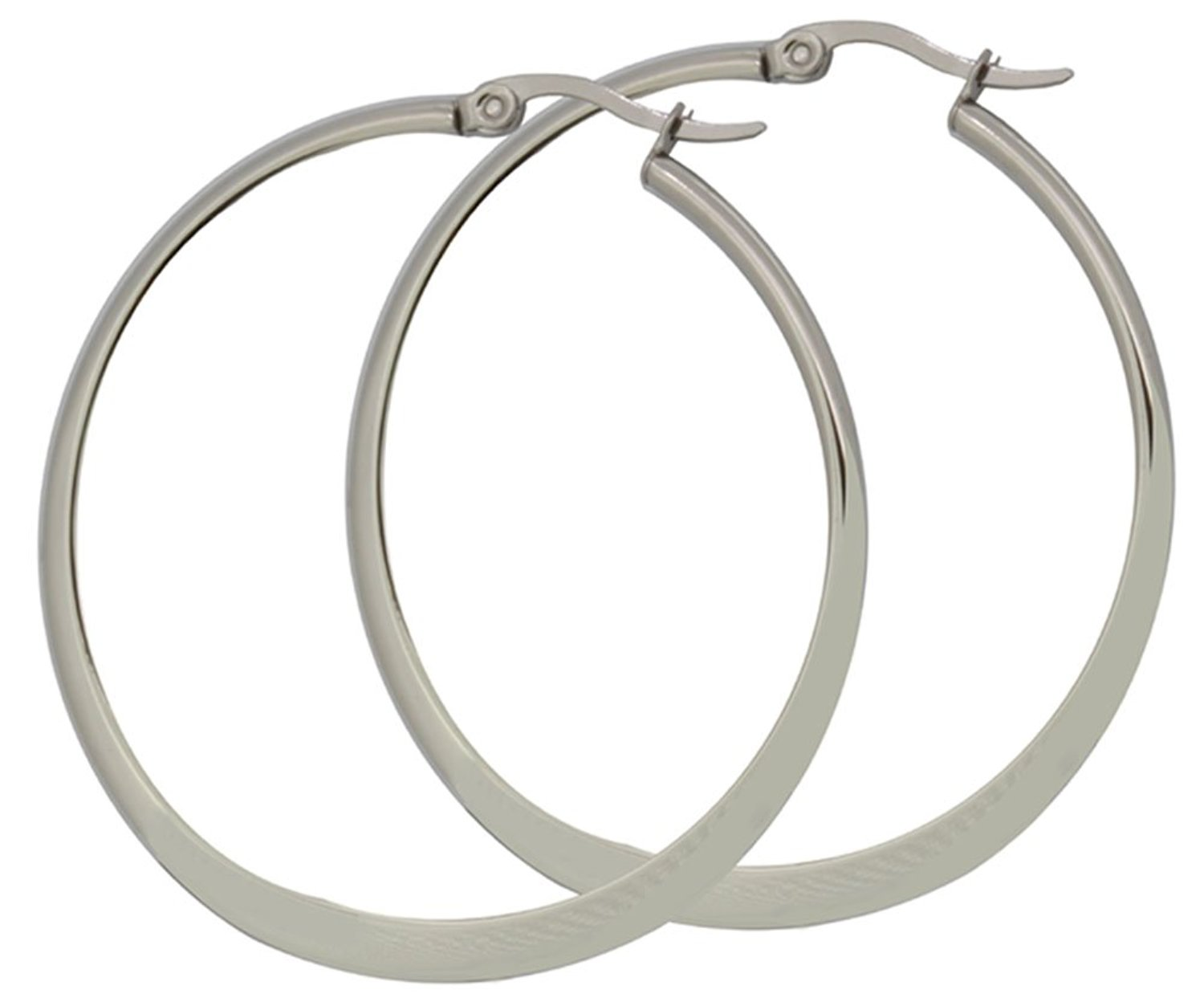 Choice One Pair Stainless Steel Flat Accent Earrings
