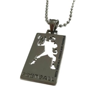 Christian-Stainless-Steel-Sport-Football-Medal-Necklace-Chain-Included-with-God-all-things-are-possible-B01G480UM4