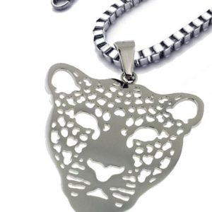 Gorgeous-Stainless-Steel-Silver-Colored-Panther-Face-Pendant-with-14-Box-Chain-20-Inches-B019YM8YJ8