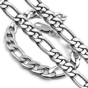 MEN-Set-2-Pieces-9-MM-Figaro-Link-Chain-Necklace-CHOICE-24-Inches-Bracelet-9-Inches-OR-28-Inches-Bracelet-9-Inches-B00VQM06GE