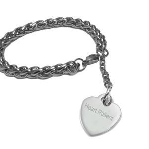 Medical-Alert-Stainless-Steel-fashion-Bracelet-Length-185-Cm-75-Inches-1-Inch-Heart-Patient-B00TQ7IJ24