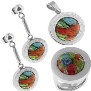Murano-Style-Color-Stainless-Steel-Set-Ring-Earrings-and-Pendant-Ring-Size-6-B00BMTVD7M