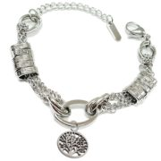 Stainless-Steel-In-Style-Trendy-Bracelet-with-Tree-of-Life-Charm-10-Fancy-Beads-Engraved-Special-Women-Silver-Color-B06XY6Q57G